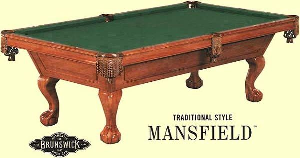 Poll Brunswick Mansfield Pool Table Any Good - Brunswick 9 foot pool table